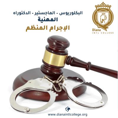 قسم القانون - الإجرام المنظم